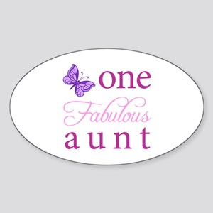 One Fabulous Aunt Sticker (Oval)