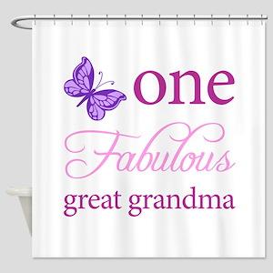 One Fabulous Great Grandma Shower Curtain