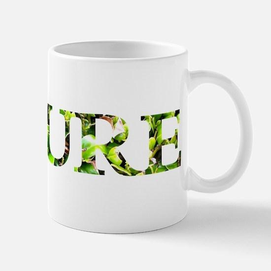 A beautiful treatment of the word Nature Mug