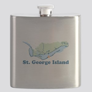 St. George Island - Map Design. Flask
