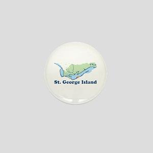 St. George Island - Map Design. Mini Button