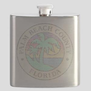 Vintage Palm Beach County Flask