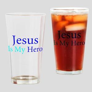 Jesus is my Hero Drinking Glass