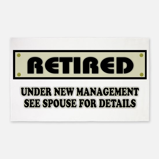 Funny Retirement Gift, Retired, Under New Area Rug