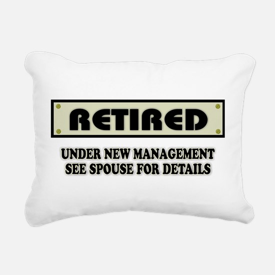 Funny Retirement Gift, R Rectangular Canvas Pillow
