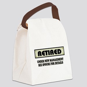 Funny Retirement Gift, Retired, U Canvas Lunch Bag