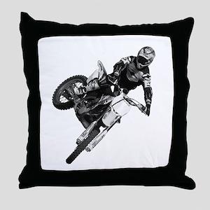 Dirt bike High Flying Throw Pillow