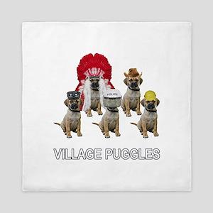 Village Puggles Queen Duvet