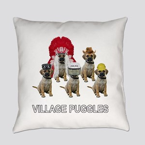 Village Puggles Everyday Pillow