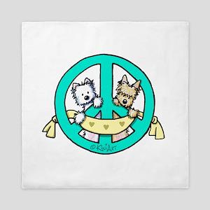 Terriers For Peace Queen Duvet