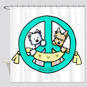Terriers For Peace Shower Curtain