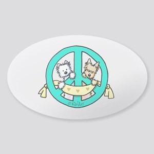 Terriers For Peace Sticker (Oval)