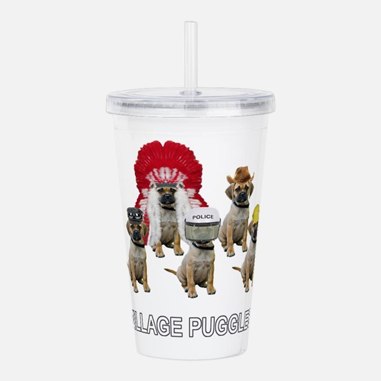 Village Puggles Acrylic Double-wall Tumbler