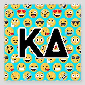 "Kappa Delta Emoji Letter Square Car Magnet 3"" x 3"""