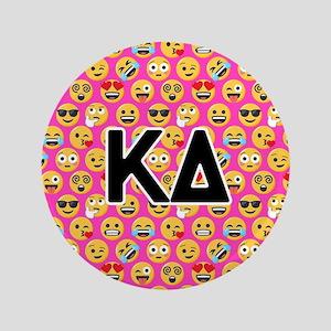 Kappa Delta Emoji Letters Pink Pattern Button