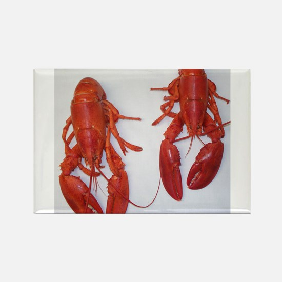 Twin Lobsters Merchandise Rectangle Magnet