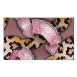 Leopards and Lace - Pink Sticker