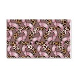Leopards and Lace - Pink Car Magnet 20 x 12