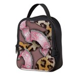 Leopards and Lace - Pink Neoprene Lunch Bag