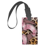 Leopards and Lace - Pink Luggage Tag