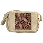 Leopards and Lace - Pink Messenger Bag