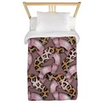 Leopards and Lace - Pink Twin Duvet