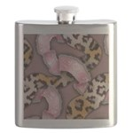 Leopards and Lace - Pink Flask