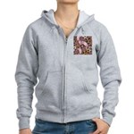Leopards and Lace - Pink Zip Hoodie