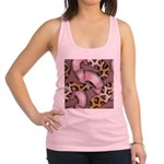 Leopards and Lace - Pink Racerback Tank Top