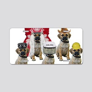 Village Puggles Aluminum License Plate