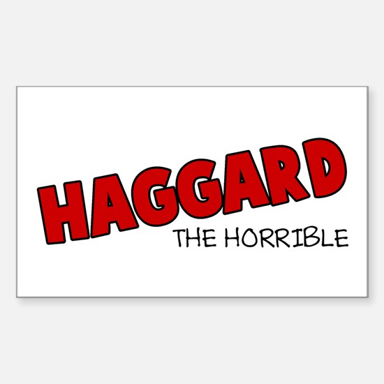Haggard the Horrible Rectangle Decal