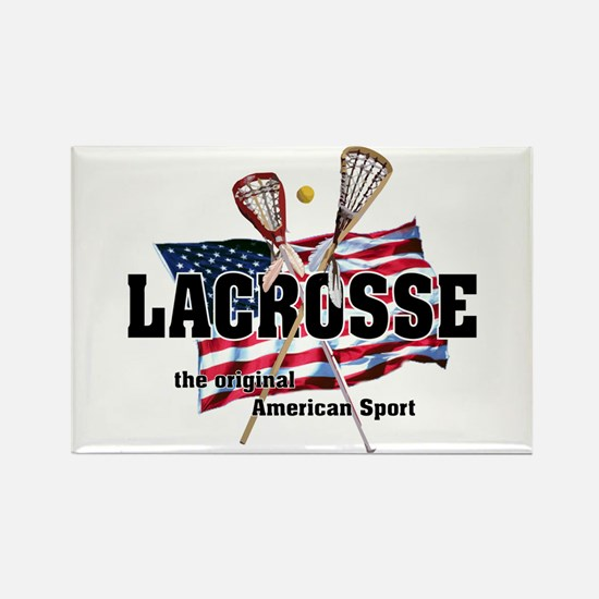 Lacrosse Rectangle Magnet (10 pack)