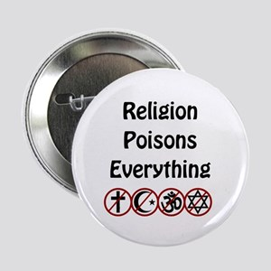 """relligion poisons everything 2.25"""" Button"""