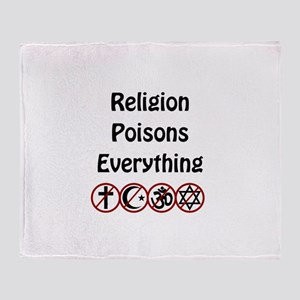 relligion poisons everything Throw Blanket