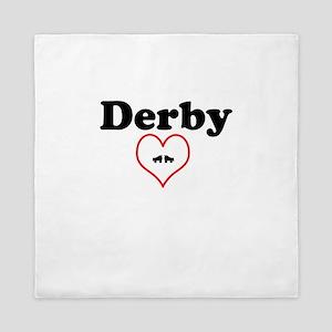 Derby Love with Heart Design Queen Duvet