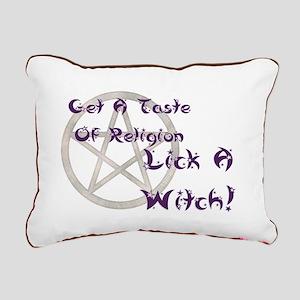 Lick A Witch Rectangular Canvas Pillow