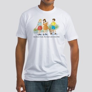 Jane Knows Connie She... Lesb Fitted T-Shirt
