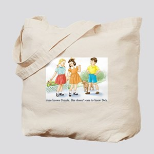 Jane Knows Connie She... Lesb Tote Bag