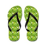 White Butterfly Fun (FF) Flip Flops
