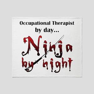 Occupational Therapist Ninja Throw Blanket