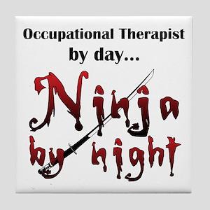 Occupational Therapist Ninja Tile Coaster