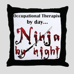 Occupational Therapist Ninja Throw Pillow