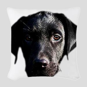 Black lab Woven Throw Pillow