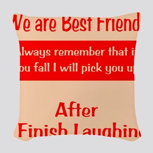 Best Friends Woven Throw Pillow