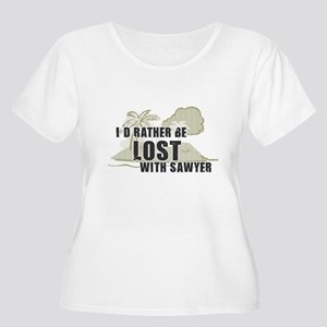 I'd Rather be Lost With Sawyer Plus Size T-Shirt