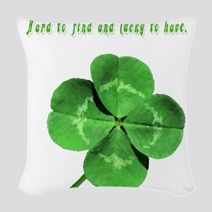 4leafcloverfriend Woven Throw Pillow