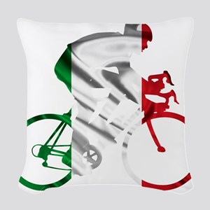 Giro d'Italia Woven Throw Pillow