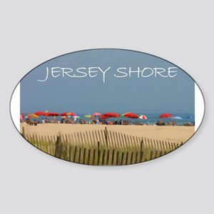 Jersey Shore Beach Umbrellas Sticker