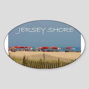 Jersey Shore Beach Umbrellas Sticker