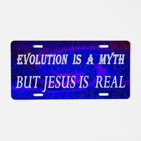 Evolution Myth Aluminum License Plate
